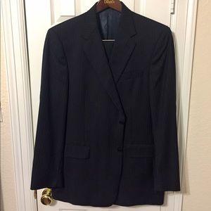 Daniel Cremieux Navy Pin Stripe 44L Suit